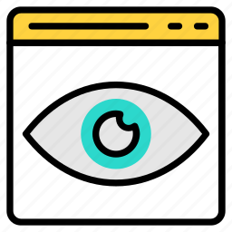 browser, eye, page, visibility, web icon icon