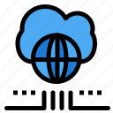 cloud, marketing, network, world icon