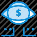 digital, dollar, eye, marketing icon