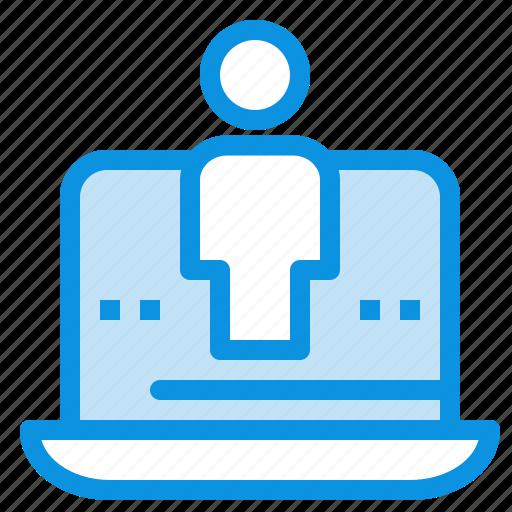 computer, digital, laptop, marketing, technology icon