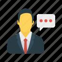 bubble, comment, employee, user
