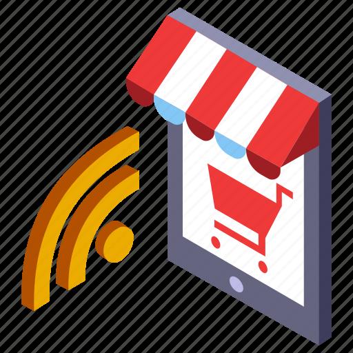 commerce, e-commerce, marketing, mobile, online, shopping, store icon