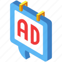ad, advertisement, advertising, business, marketing, media, online icon