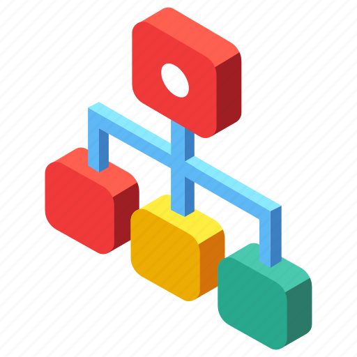 chart, connection, flowchart, hierarchy, sitemap, structure icon