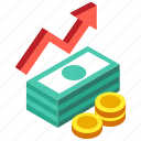 budget, finance, fund, income, investment, profit, revenue icon