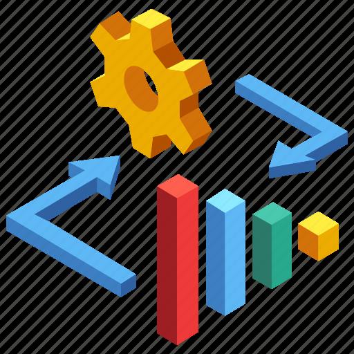 analysis, development, finance, investment, management, marketing, optimization icon