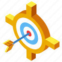 accuracy, audience, competition, focus, marketing, target, targeting icon