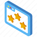 appreciation, feedback, rate, rating, review, satisfaction, user icon