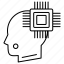 circuit, processor, robotics icon
