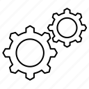 engine, gear, setting icon