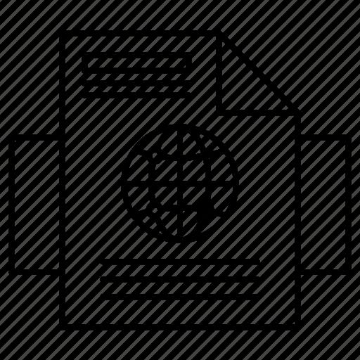 document, internet, webpage icon