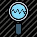 explore, magnifier, seo, tool icon