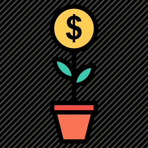 analytics, ecology, growth, leaf, plant icon