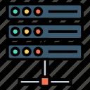 connection, database, hardware, web icon