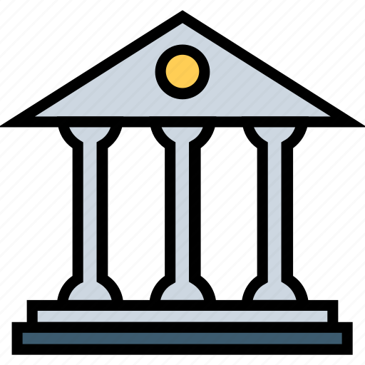 bank, building, city, finance, office icon