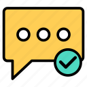 chat, chatting, dialogue, discussion, text icon