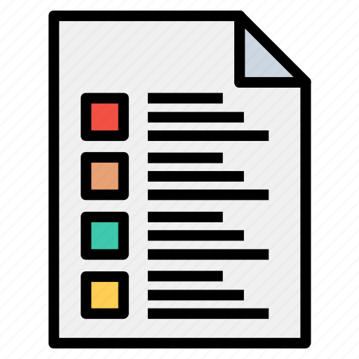 data, document, files, page, text icon