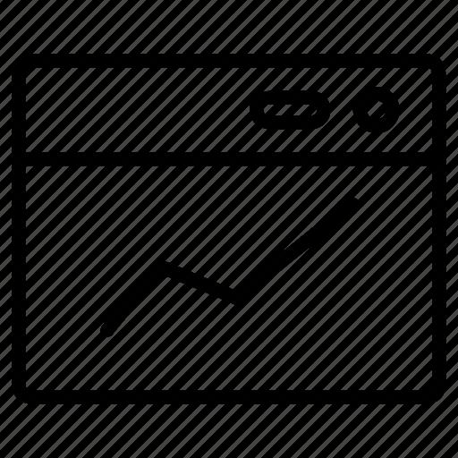 analytics, business, chart, line, presentation icon