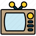 monitor, screen, television, tv icon