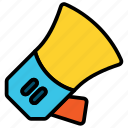 advertisement, announcement, loudspeaker, megaphone icon