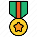 award, badge, medal, winner icon