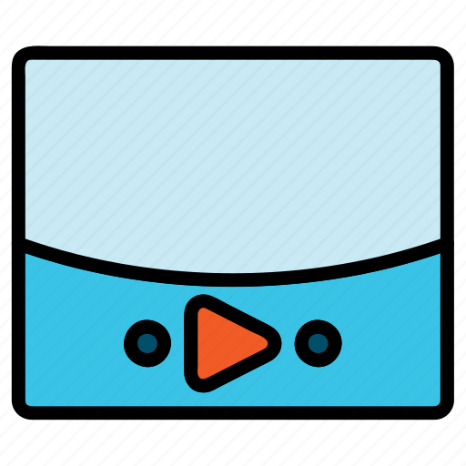 movie player, multimedia, player, video, video player, video streaming icon