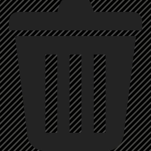 bin, trash, waste, waste bin icon