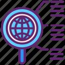 globe, internet, magnifier, research