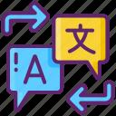 barrier, language, translation icon