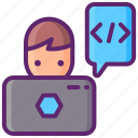 computer, programmer, user icon
