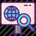 computer, search, specialist, seo icon