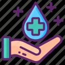 hand, sanitation, water icon