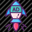 lift, rocket, viral icon