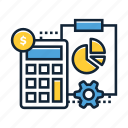 accountant, accounting, analytics, business, chart, finance, financial icon