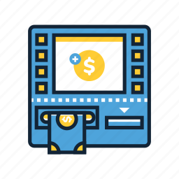 atm, bank, banking, cash, fees, finance, transaction icon