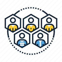 communication, community, connection, group, interaction, network, people icon