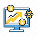 analytics, business, conversion, optimizer, rate, report, seo icon