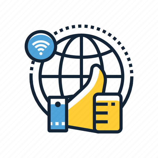 communication, connection, good, internet, network, online, web icon