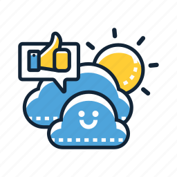 climate, clouds, forecast, good, rain, temperature, weather icon