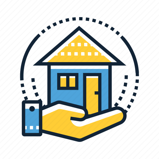 architecture, building, construction, home, house, property, sitting icon