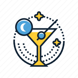 beverage, cocktail, drink, glass, nightlife, party, wine icon