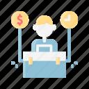 business, digital, internet, marketing, nomad, website icon