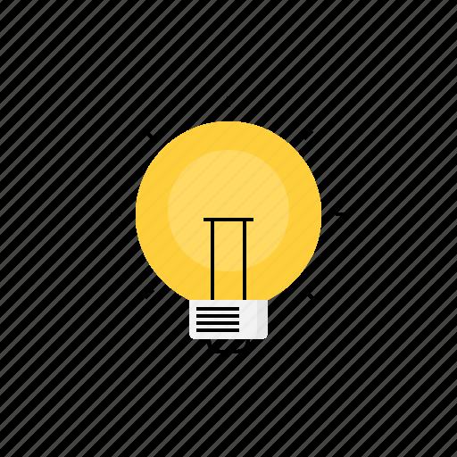 bulb, creative, idea, light, think icon