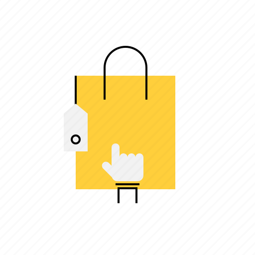 bag, click, ecommerce, online, shop, shopping icon