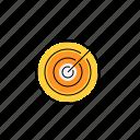 aim, arrow, dart, goal, target icon