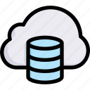 business, cloud database, digital, online, service, storage, technology icon