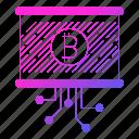 bitcoin, circuit, data, digital, report icon