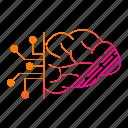 circuit, data, digital, idea, mind, think icon
