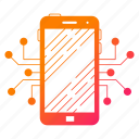 circuit, data, digital, phone, smartphone, technology icon