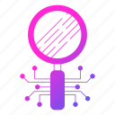 circuit, data, digital, search icon